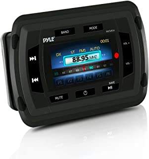 Pyle PATVR14 Marine Bluetooth Audio/Video Receiver - Water Resistant A/V Stereo Headunit, Color LCD Display, USB Reader
