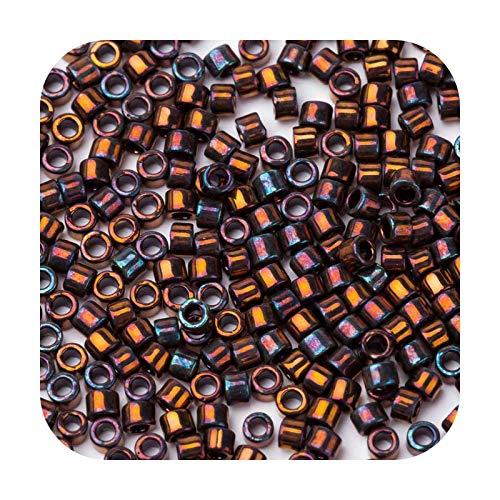 who-care Cuentas chapadas en oro de 24 quilates con cristal japonés matelico para joyería de pendientes 11/0 1,6 mm 3G/Bag Db31-Db1002