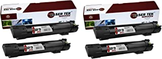 Laser Tek Services® 4 Pack Xerox 106R01510 (6700) Black High Yield Remanufactured Replacement Toner Cartridges for the Xerox Phaser 6700
