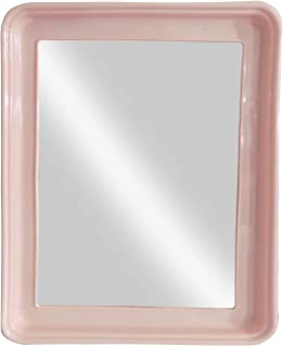 Baal Square Shape Decorative Wall Mirror for Home Living Room and Bathroom Use 20 Gram Pack of 1 (Baby Pink)