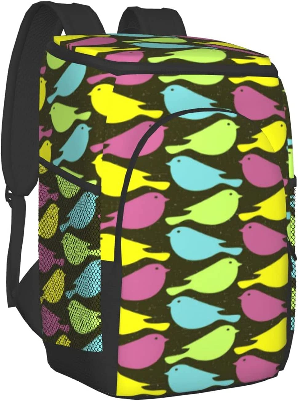 Colored Neat In Max 50% OFF stock Abstract Bird Nostalgia Insulated B Backpack Cooler