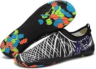 Mens Womens Water Shoes Barefoot Beach Pool Shoes Quick-Dry Aqua Yoga Socks for Surf Swim Water Sport Non-slip Swim Beach ...