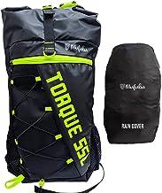 Mufubu Presents Torque 55 LTR Rucksack/Trekking Bag with Rain Cover - Green/Black