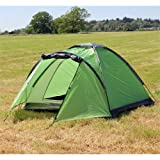 North Gear Camping Mono 3 Man Waterproof Tent Green