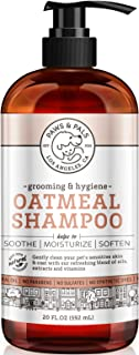 Paws & Pals 5-in-1 Oatmeal Dog Shampoo, Conditions, Detangles, Moisturizes, Anti Itch, Odor Control - Made in USA w/Medicated Clinical Vet Formula - Best for Dog, Cat & Pets w/Dry Itchy Skin   20 oz