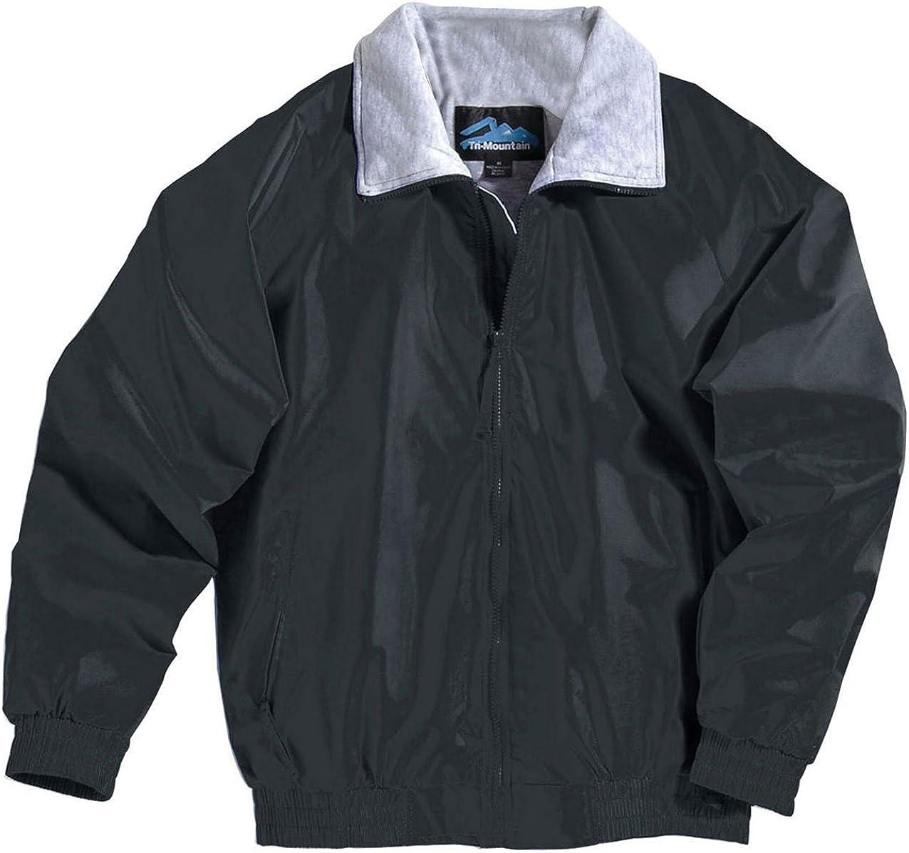 Tri-Mountain Men's All-Season Nylon Jacket. 3400 Clipper Black