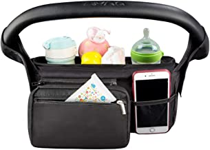 Baby Stroller Organizer with 2 Cup Holders by Famiry, A Detachable Multiple Zipper Pockets, Extra Large Mesh Bag, Universal Baby Stroller Organizer Make Easier Life for Moms, Easy Installation