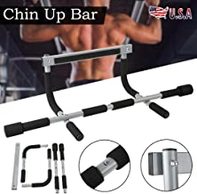 ttbero Portable Door Pull Up Bars Exercise Strength Fitness Gym Chin Up Workout Bar