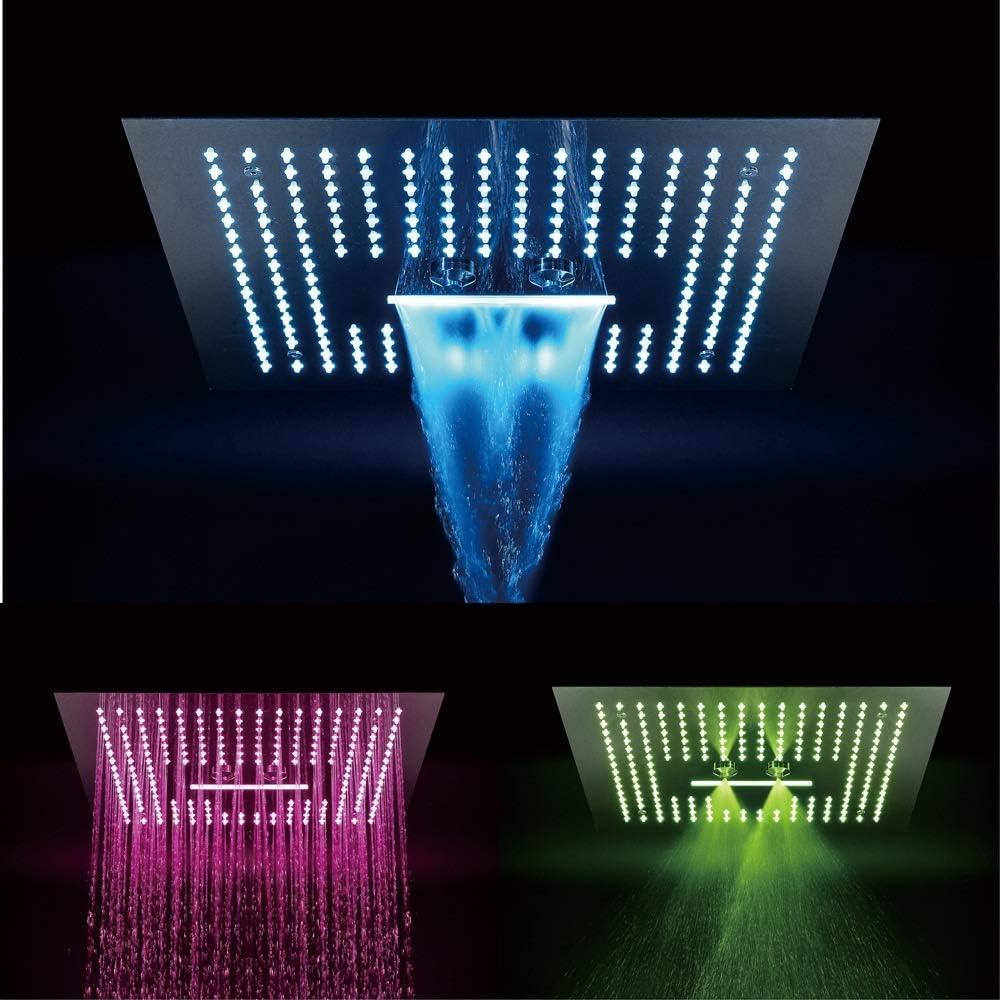 ZKAIAI 100% quality warranty! Bath Fixtures Las Vegas Mall Remote Control Top Copper Canopy LED4040cm