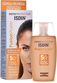 Isdin Fotoprotector Fusion Water COLOR SPF 50 - Protector solar facial de fase acuosa con color para uso diario Cobertura...
