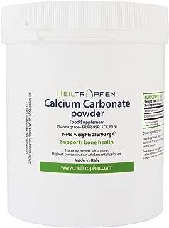 Calcium Carbonate Powder, Pharmaceutical Grade, 2lb-907g, Highest Purity Limestone, Heiltropfen®