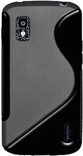 Amzer AMZ95219 Dual Tone TPU Hybrid Skin Fit Case Cover for Google Nexus 4 E960/LG Nexus 4 E960 - 1 Pack - Retail Packaging - Black