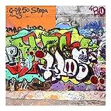Bilderwelten Fotomural - Graffiti - Mural cuadrado papel pintado fotomurales murales pared papel para pared foto 3D mural pared barato decorativo, Dimensión Alto x Ancho: 192cm x 192cm