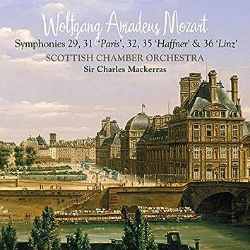 """Mozart: Symphonies 29, 31 """"Paris"""", 32, 35 """"Haffner"""" & 36 """"Linz"""""""
