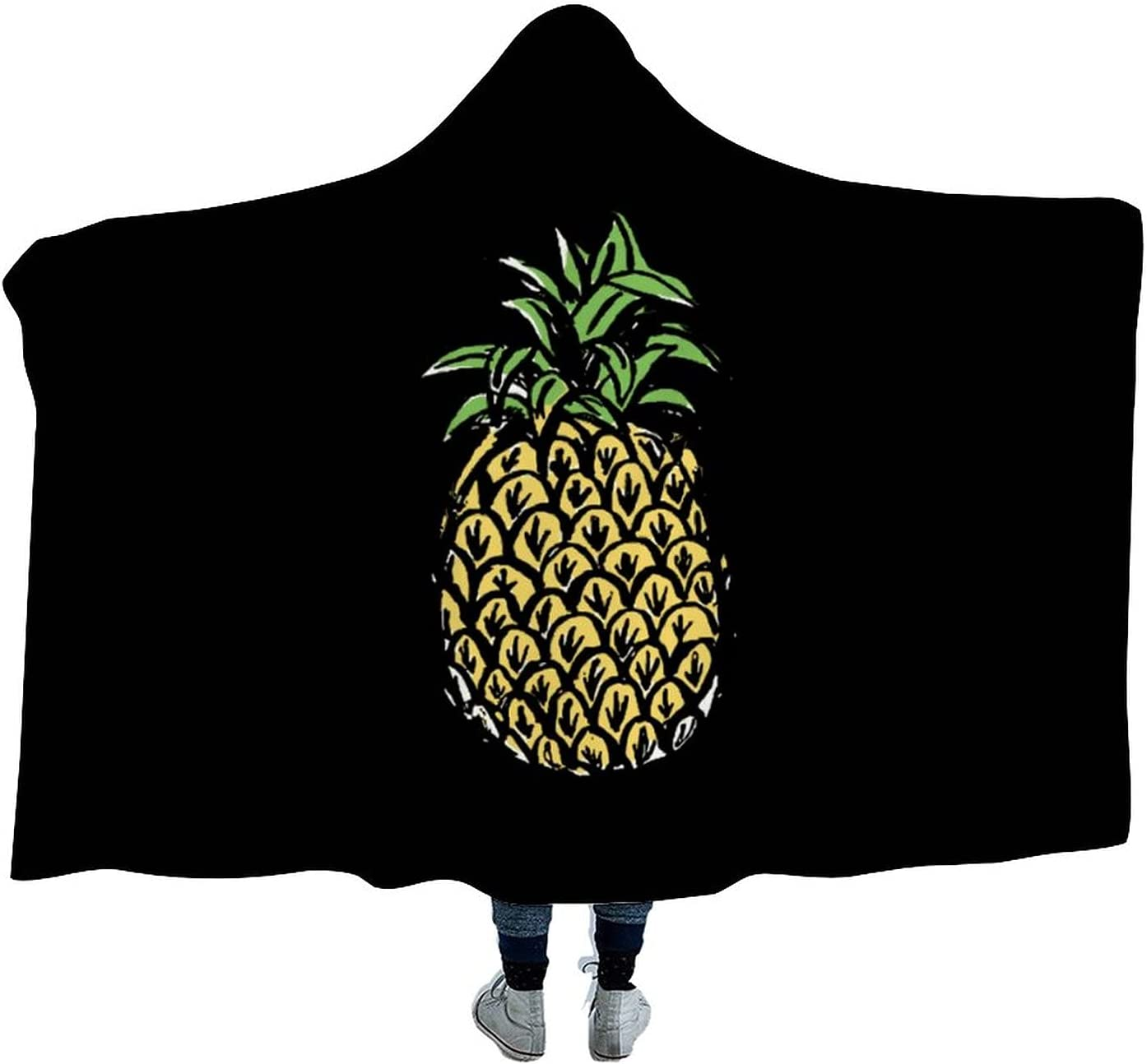 Pineapples NEW Wearable Hooded Blanket Soft Sofa Watch Fixed price for sale for Tv Cloak