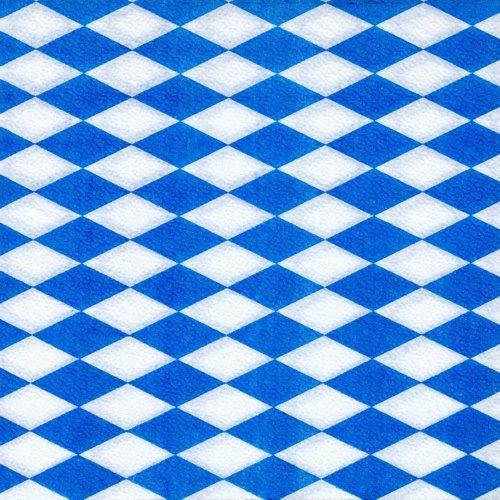 100 Servietten Raute bavarois bleu blanc Blanc Dimensions ouvertes : 33 x 33