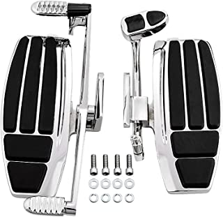 Driver Floorboard Kit w/ Heel-Toe Shifter For Honda GL1800 & F6B Models 2001-2016 Valkyrie 2014-2015 (Chrome)