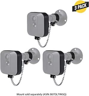 Wasserstein Anti-Theft Security Chain Compatible with Blink XT2 Outdoor Camera - Extra Security for Your Blink Camera (3 Pack, Black)