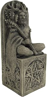 Dryad Design Seated God Statue Stone Finish
