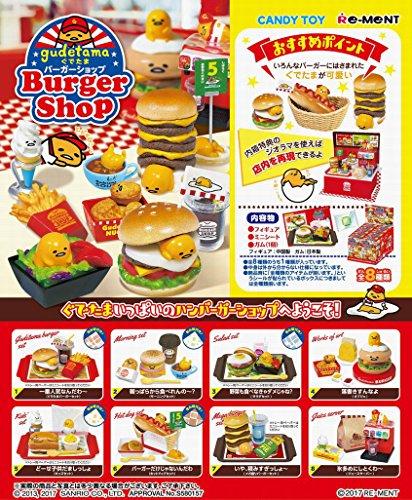 Gudetama Burger shop Re-Ment miniature 8 pieces per BOX