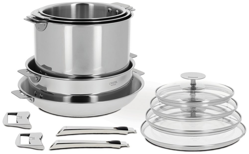 Cristel Casteline Stainless Cookware Removable