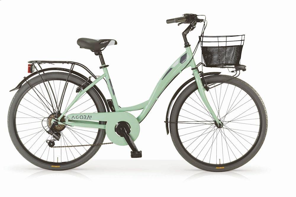 MBM Bicicleta Agorà para Mujeres, Cuadro de Acero, 26