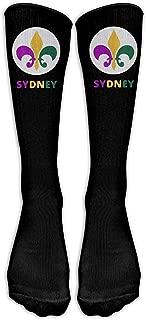 Fleur De Lis Sydney Casual Unisex Sock Knee Long High Socks Sport Athletic Crew Socks One Size 50cm