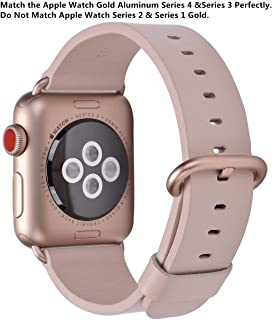 JSGJMY Compatible with Apple Watch Band 38mm 40mm 42mm 44mm Women Men Genuine Leather Strap for iWatch Series 5 4 3 2 1