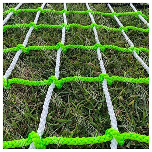 Kletternetz,Last Fest Strickleiter Anhänger Schweres Deck Frachtnetz Kids Net Kletternetz Im Freien Spielplatz Vergnügungspark Seil Nylonnetz für Balkontreppenschutzzaunnetz