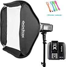 Godox AD600B TTL 600Ws GN87 HSS Outdoor Studio Flash Strobe Monolight Speedlite Light with X1T-S Wireless Trigger Transmitter with 32x32 inches Bowens Mount Softbox Compatible for Sony Cameras