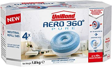 UniBond Aero 360° Moisture Absorber Neutral Refill tabs pack of 1 / 4 x 450g