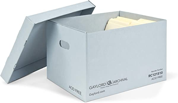 Gaylord Archival Record Storage Cartons 5 Pack