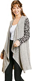 Umgee Touch of Animal Lightweight Hachi Sweater Knit Cardigan
