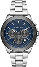 Michael Kors Men Theroux Quartz Stainless Steel Silver with Blue Dial Watch MK8662