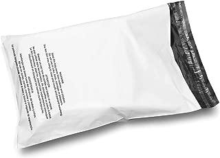 Shop4Mailers 30.48 cm x 39.37 cm 光面白色警告印刷塑料袋邮寄信封信封 0.79 cm 100 Pack 白色
