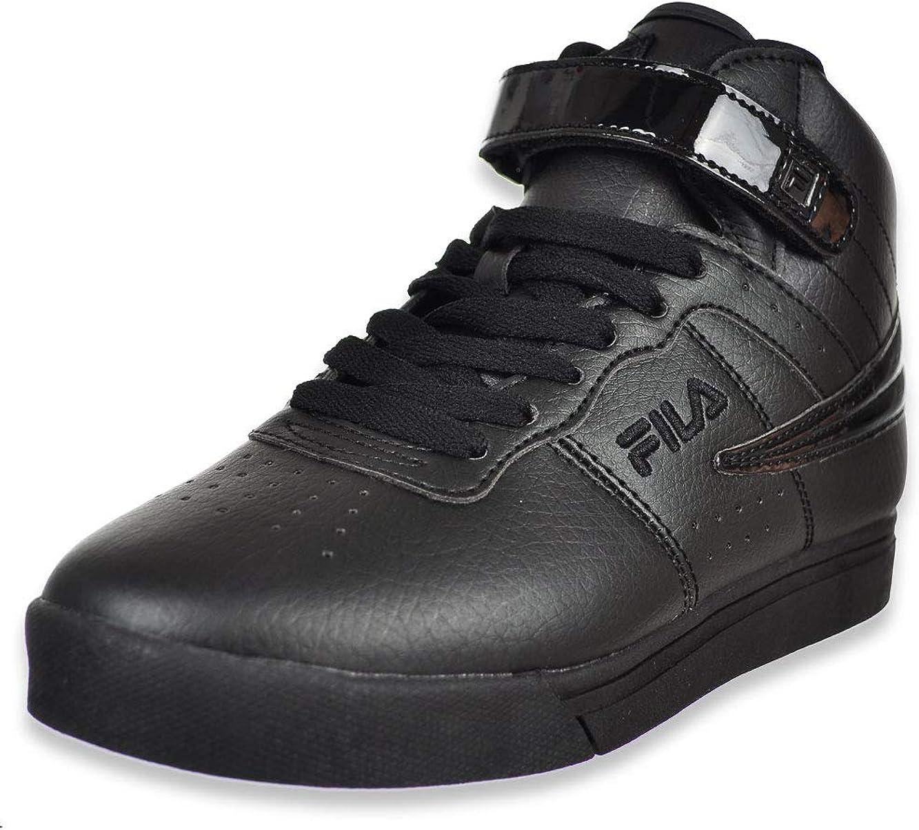 Fila Boys' Vulc 13 Patent Flag Hi-Top Sneakers