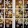 クリスマス 静電ステッカー クリスマス飾り 161pcs 雪の結晶 ウォールステッカー 窓ステッカー クリスマス静電ステッカークリスマスの飾り merry christmas (白い)