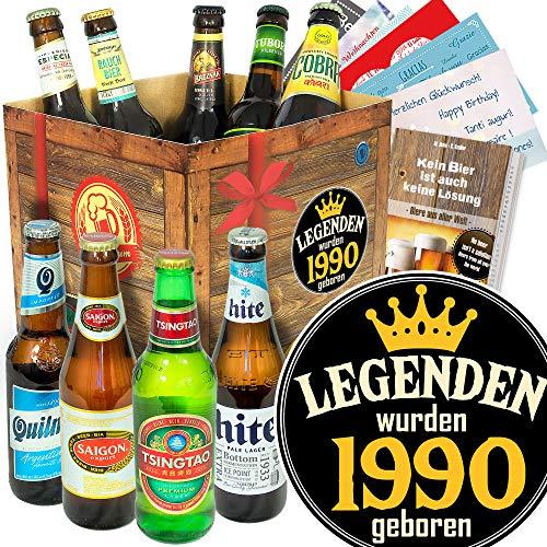Legenden 1990 / Bierbox - Biere der Welt/Geburtstags Geschenk für Ihn