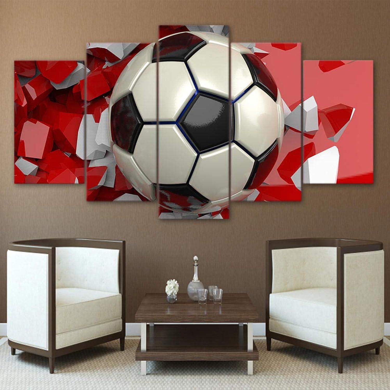 venta LAKHAFZY LAKHAFZY LAKHAFZY 5 Lienzos Marco HD Impreso Moderno Salón Imágenes Fútbol Deporte Arte De La Parojo Cartel Modular Decoración del Hogar Pintura De La Lona  comprar nuevo barato