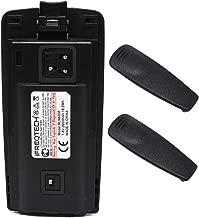 RLN6305 Battery for Motorola CP110 RDU2020 RDU4100 RDU4160D RDV2020 RLN6308 Li-ion Battery with 2 Pcs Belt Clip 2600mAh