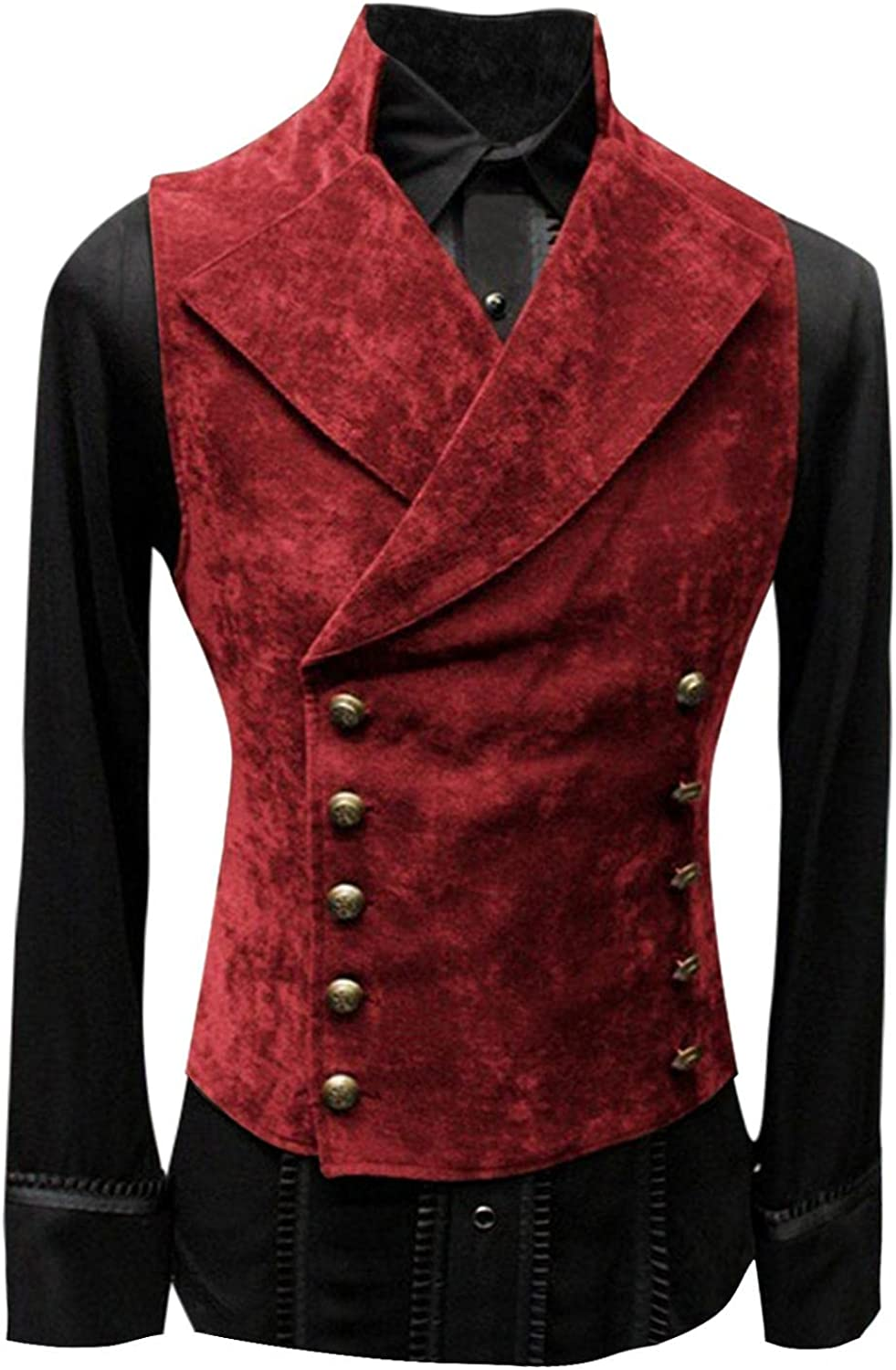 Men's Evening Dress Super Special SALE held Retro Leather Limited price Vest Jacket Stand- Long Sleeve