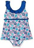 Playshoes Mädchen UV-Schutz Badeanzug mit Rock Veilchen Einteiler, Mehrfarbig (LACHS 41), 110 (Herstellergröße: 110/116)