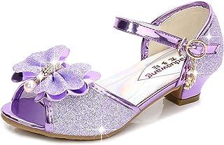DolceTiger Enfants Bébé Filles Sandales Bowknot Perle Cristal Roman Sandales Princesse Chaussures Sandales Strass Perle d'...