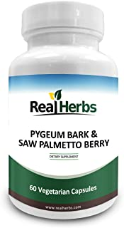 Real Herbs Pygeum Bark Pure Extract 4:1 350mg and Saw Palmetto Pure Extract 3:1 350mg - 700mg - Promotes Prostate Health, ...