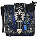 Camouflage Rhinestone Western Cross Body Handbags Concealed Carry Purse Country Women Single Shoulder Bag