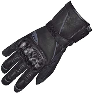 Motorcycle Riding Leather Gloves,Full Finger Touchscreen Hard Knuckle Windproof Motorbike Winter Racing Gloves for Men(XL, Black)