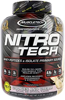 NitroTech 3.97 Lbs Cookies And Cream Muscletech.