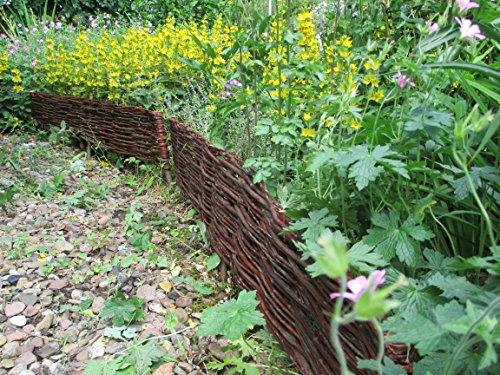 Beeteinfassungen aus ungeschälten Weidenruten in 115 cm x 20 cm (VPE 2 Stück)