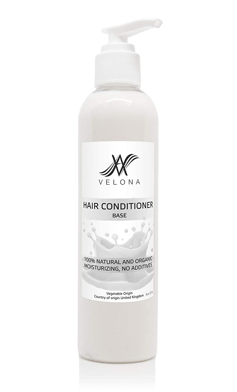 100% Organic Hair Conditioner Base by Velona | All Natural Clear, Pure, Vegetable Origin Base for Perfect Hair | Size: 8 OZ