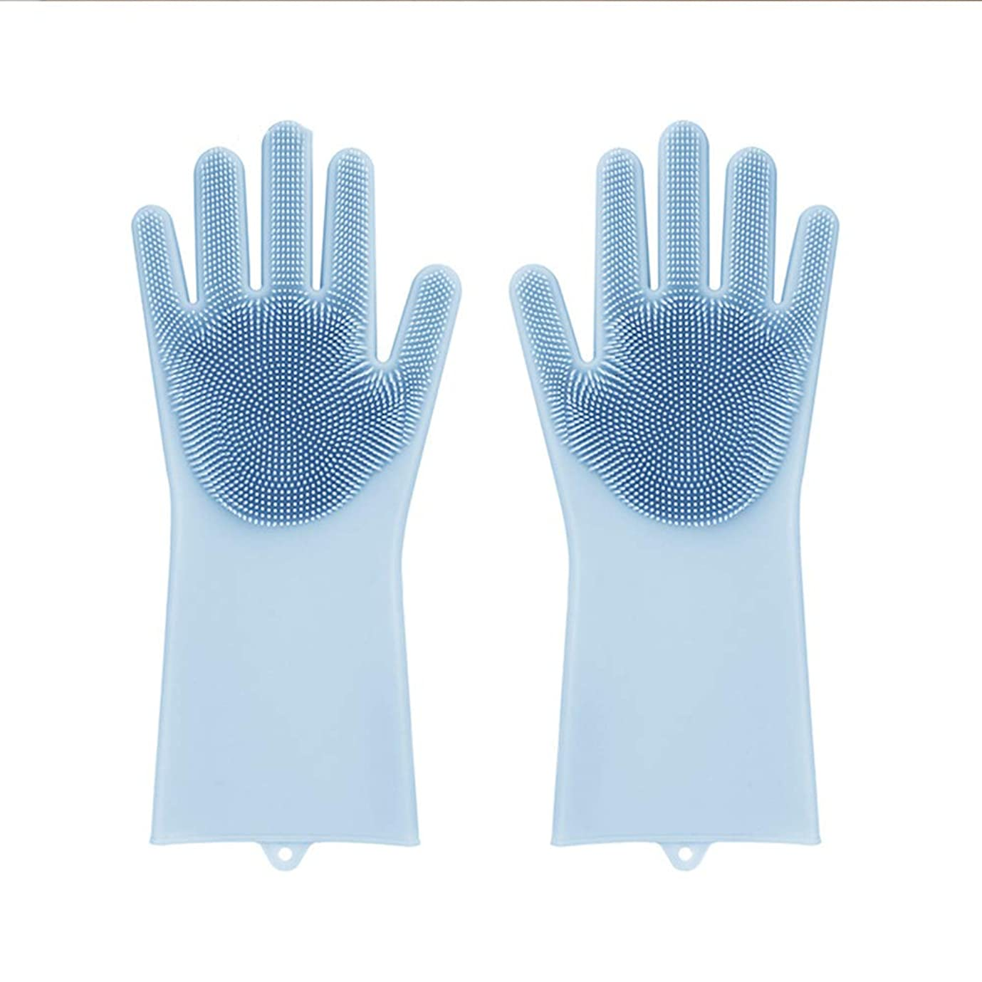 踏み台罹患率同封する家庭用家庭用シリコンクリーニング手袋多機能キッチンブラシボウル防滑手袋